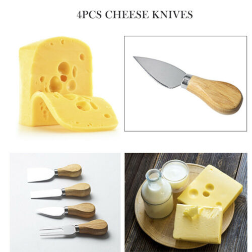 4pcs//set Cheese Knives with Wood Handle Stainless Steel Cheese Cutter  #d
