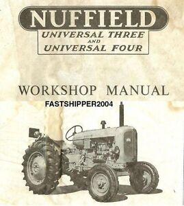 fast bmc nuffield universal 3 4 tractors shop service repair rh ebay com Gibson Tractor Nuffield 460 Tractor
