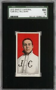 Rare 1909-11 T206 Bill Milligan Sweet Caporal 350 Jersey City SGC 60 / 5 EX
