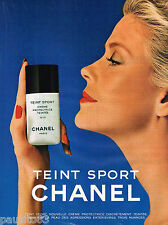 PUBLICITE ADVERTISING 055 1981  CHANEL  maquillage TEINT SPORT