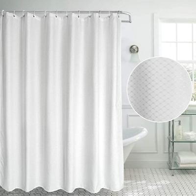 72x72/'' White in Black Stones Bathroom Shower Curtain Waterproof Fabric 12 Hooks