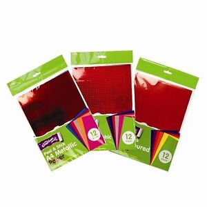 12x-A4-SELF-ADHESIVE-PAPER-HOLOGRAPHIC-METALLIC-COLOURED-ASSORTED-UK-SALE