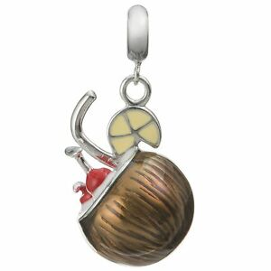 Rhodium-on-STR-Silver-Coconut-Cocktail-Enamel-Dangle-f-European-Charm-Bracelets
