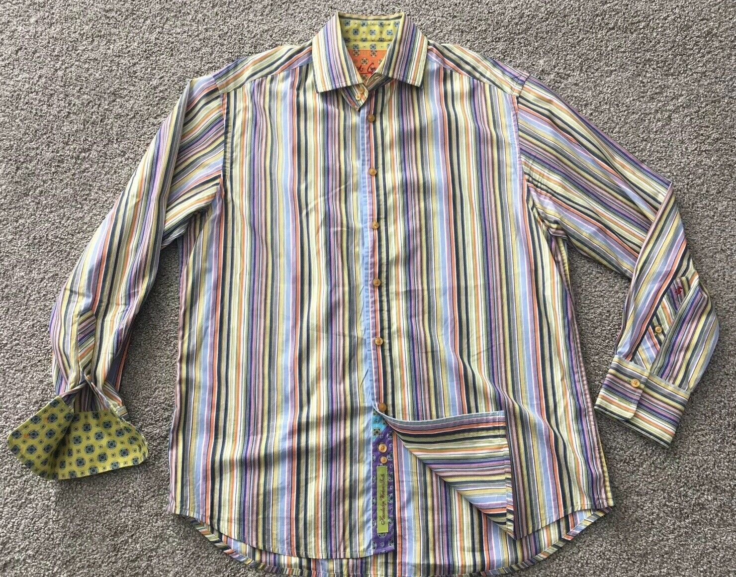 ROBERT GRAHAM Large colorful Striped Shirt - Bold