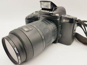 Vintage Pentax z-10 35mm SLR Film Kamera + SMC Pentax-F f4.7-5.6 80-200mm Objektiv