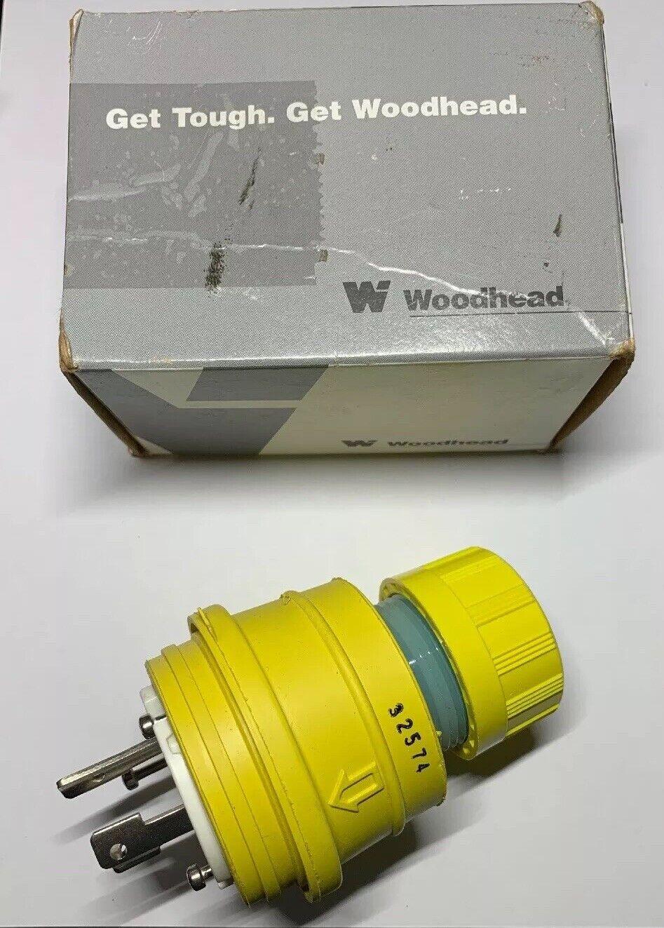 Woodhead 1301470029 Plug-Watertite Turnexwatert Nema L-16 20 20A 3PH 480V T14896