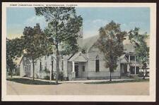 Postcard WINTERHAVEN FL First Christian Church View