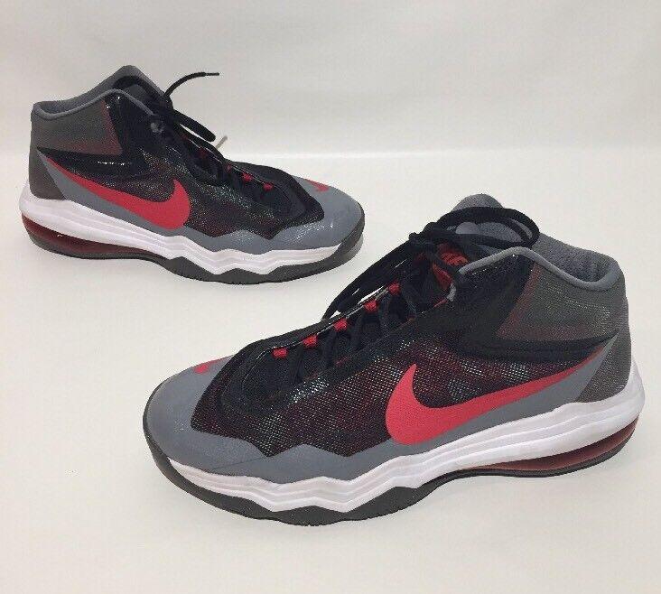 Nike 2015 Air Max Max Air Audacity Basketball Shoes Mens Gray/black/red Size 9 e283fe