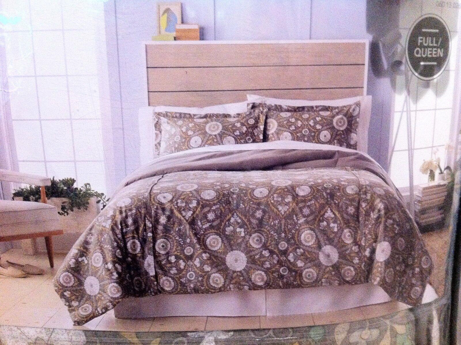 New Threshold 3 Pc Cotton Comforter Set Größe Full   Queen