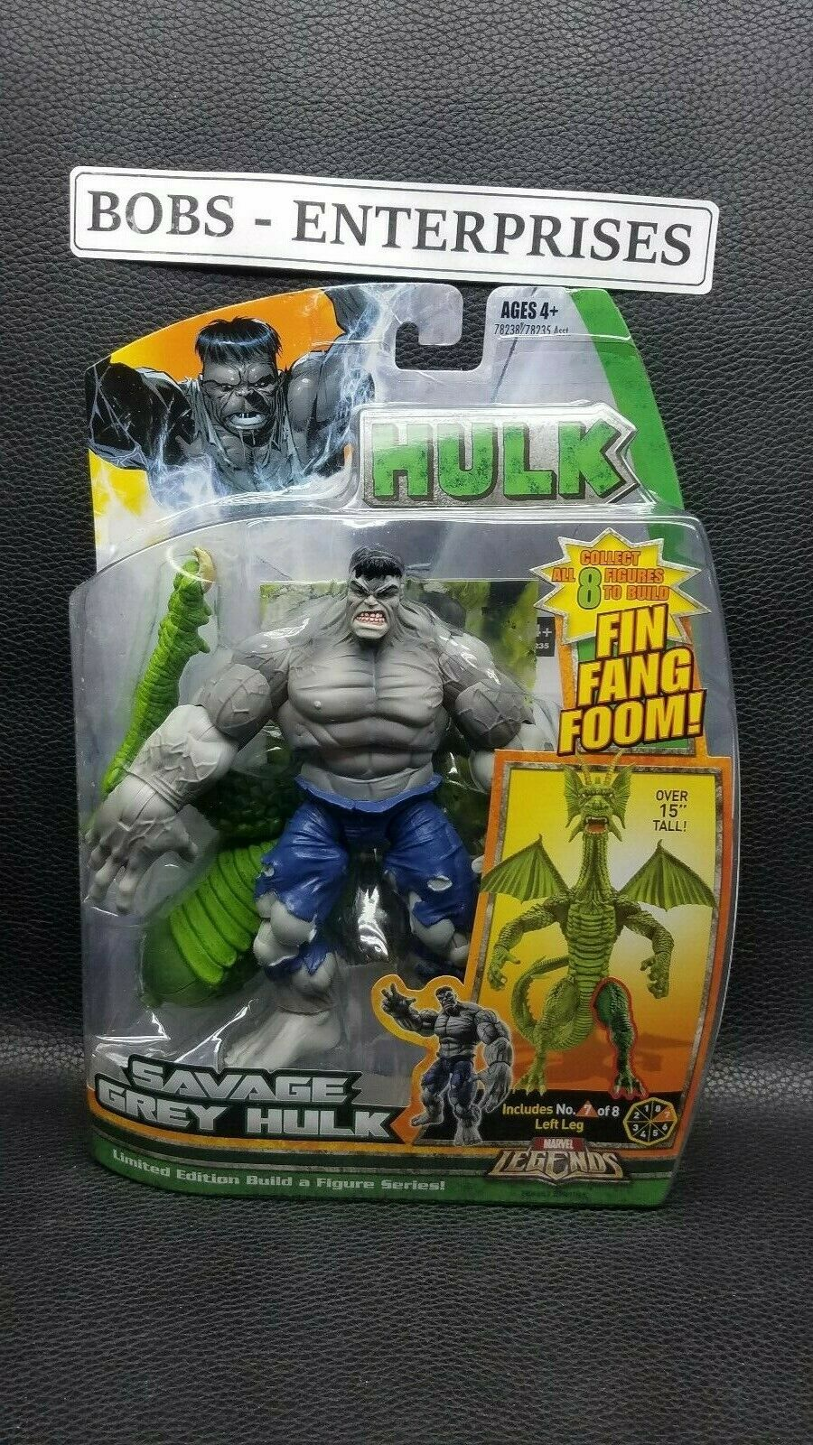 Marvel leyendas rara salvaje gris Hulk-Fin Fang Foom Collection b-217
