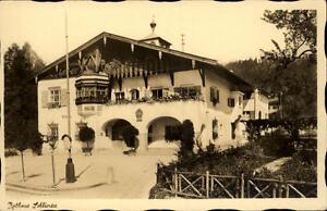 Schliersee Bayern alte Ansichtskarte Postkarte ~1920/30 Straßenpartie am Rathaus