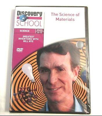 Bill Nye THE SCIENCE OF MATERIALS Teacher DVD Discovery School Grades 6-12
