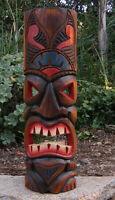 Hawaiian Ku Tiki Wood Wall Mask Patio Tropical Bar Decor 20