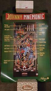Johnny Mnemonic Pinball ORIGINAL Promotional Advertising Poster