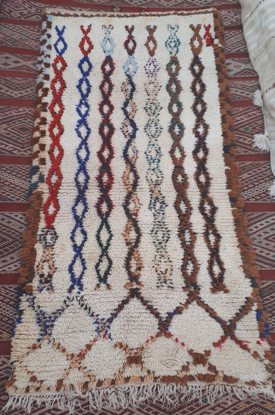 MGoldccan  woollen Azilal tribal rug  170 x x x 85 cm b542fe