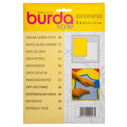Burda 10 x Carbon Paper 81 x 55 cm 2 Pieces Per Pack Sewing Craft Bulk Filoro