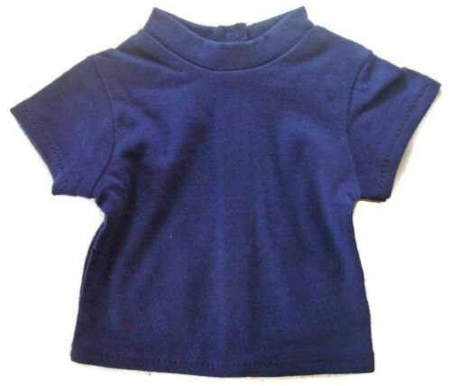 """Basic Navy Blue T-Shirt Top for 18/"""" American Girl Doll Clothes July 4th"""