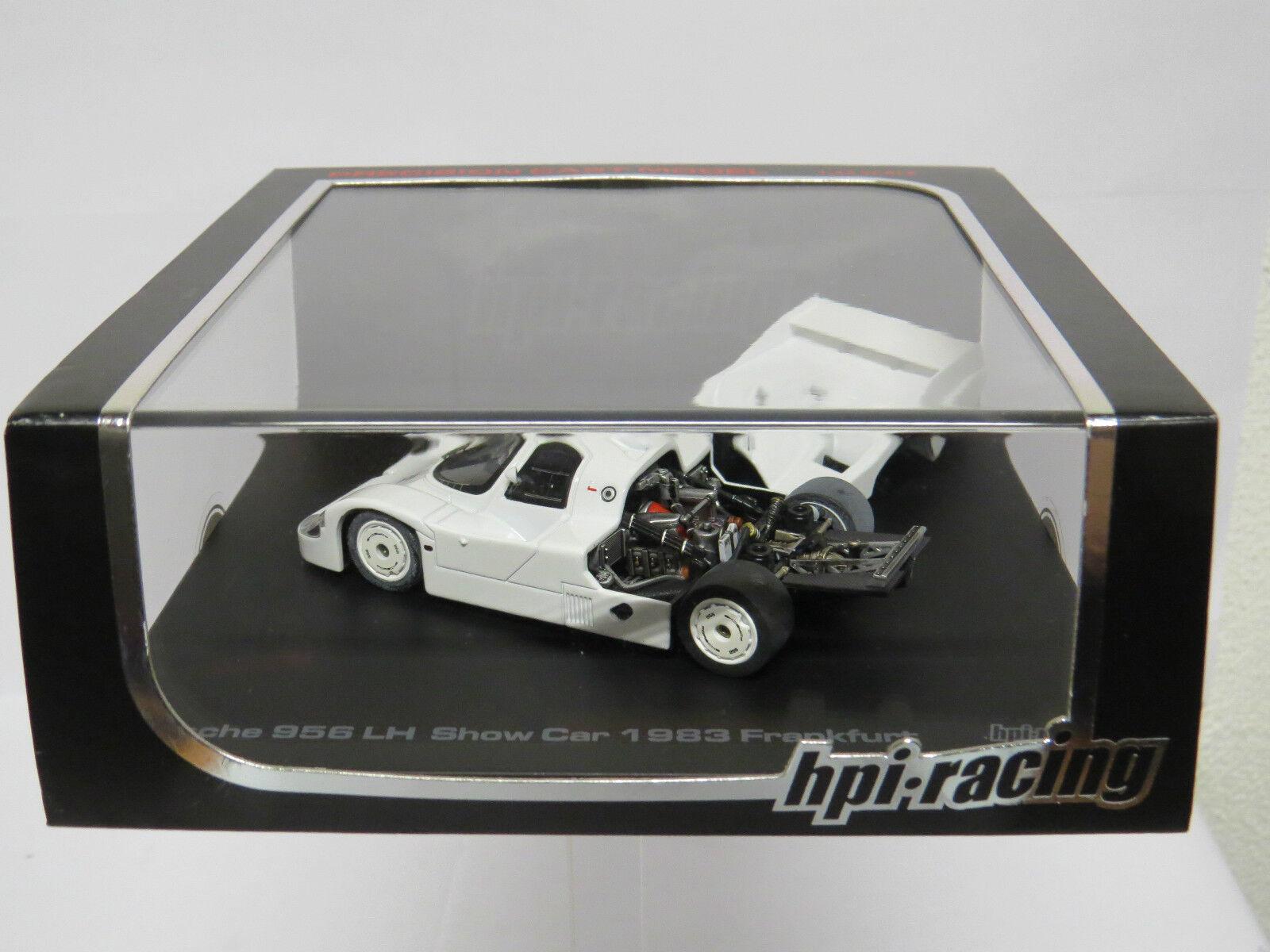Hpi 942 Porsche 956 LH Show voiture 1983 Frankfurt  1 43 blanc  vente