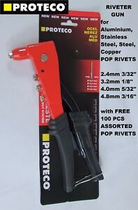 Riveter-Pop-Rivet-Riveting-Gun-Hand-Tool-Kit-HD-100-Assorted-Rivets-PROTECO