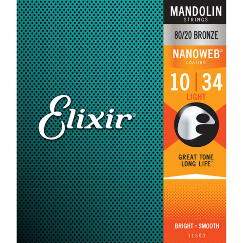 Lgt Acoustic .010 - .034 Elixir Mandolin Nanoweb Strings