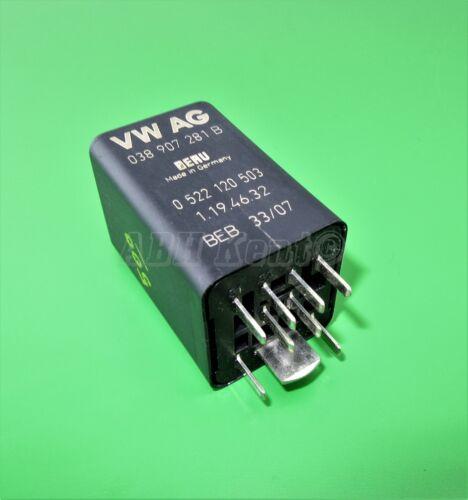 Glow Plugs 9-Pin Black Relay No 457 038907281B 0522120503 02-11 500-Audi VW