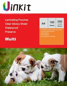 A4 Hot Laminating Pouches 250 Micron 125x2  Clean and Clear Uinkit 100-500sheets