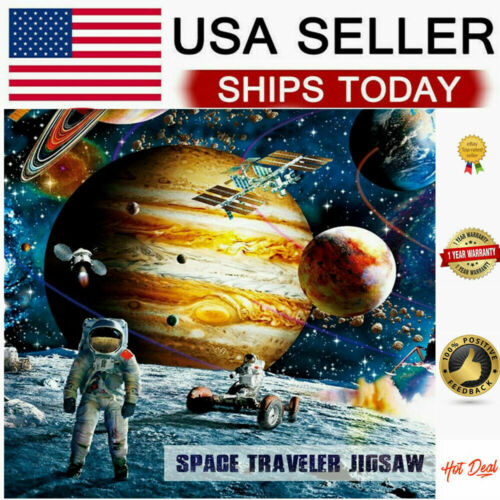1000 Piece Jigsaw Puzzle Kids Adult Planets in Space Jigsaw Puzzle Fun Toys US