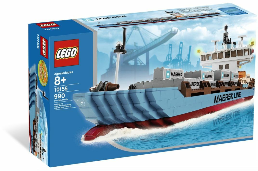 LEGO ® Exclusive 10155 Maersk Line Container Ship NUOVO OVP NEW MISB NRFB