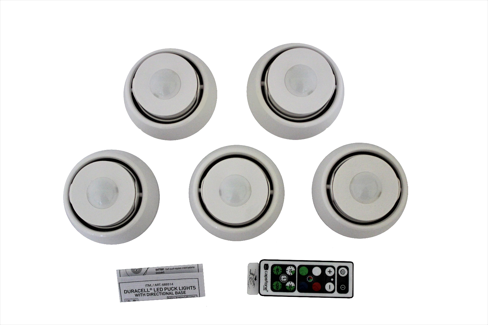 5 Count Capstone Industries Inc. Capstone LED Puck Lights with Directional Base