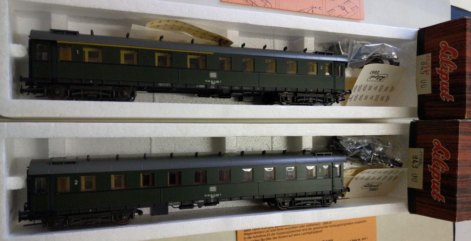 2 Liliput Personenwagen D-Zugwagen  845 00, 843 00 H0 1 87 OVP