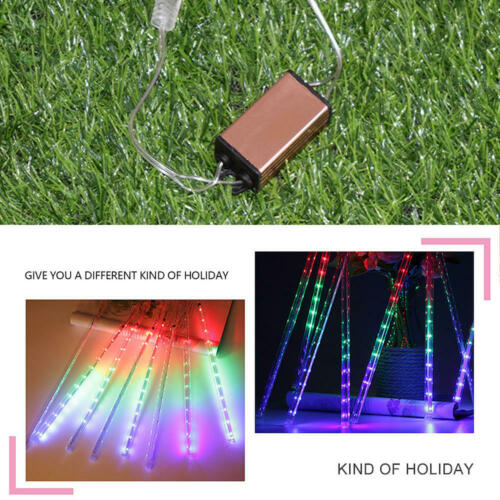 LED Meteor Shower Lights Waterproof Falling Rain Icicle Outdoor XMAS 30//50 CM