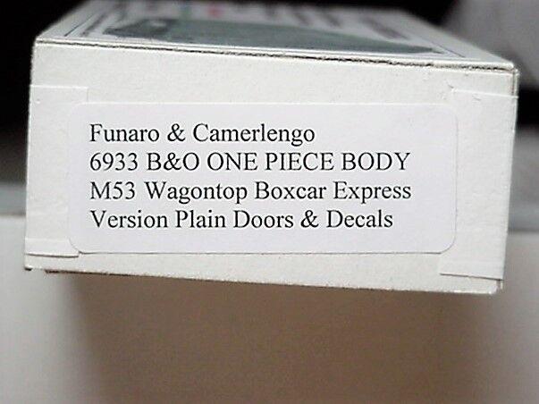 Funaro F&C HO HO HO Baltimore & Ohio  B&O M53 Wagontop Boxcar express version  6933 5a9e0f