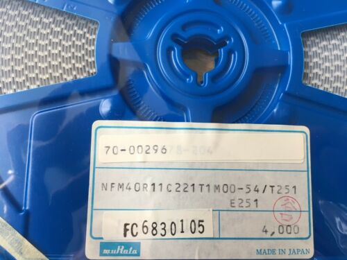 4000 pieces     Z3416 FEED THROUGH CAPACITOR   220pF  25VDC  1206    FULL REEL