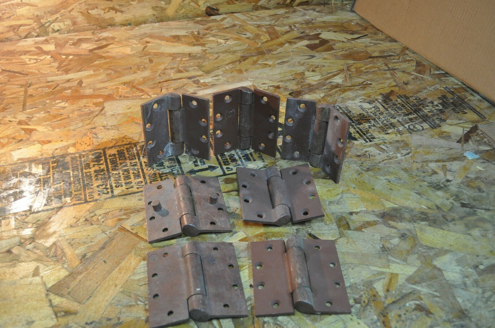 LOT OF 7 SOUTHERN FOLGER HOSPITAL JAIL PRISON TIP HINGE 4.5  X 4.5  FREE SHIP