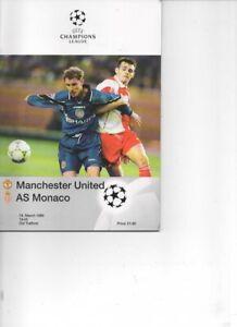 Manchester United v Monaco 1997/98 Champions League 1/4 Final 2nd Leg