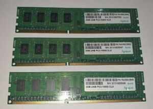 APACER-HYNIX-3x-2-Go-6-Go-Memoire-RAM-DDR3-PC3-10600U-CL9-Home-Office-Desktop-PC