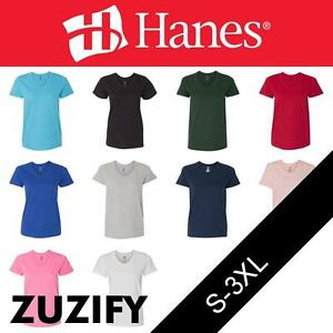 8ec7ac35 Hanes Ladies 5.2 oz. ComfortSoft V-Neck Short Sleeve T-Shirt. 5780 ...