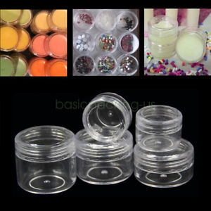 2ec81497365d Details about Wholesale 3g 5g 10g 15g 20g Clear Empty Jars Pot Cream  Cosmetic Containers Tank