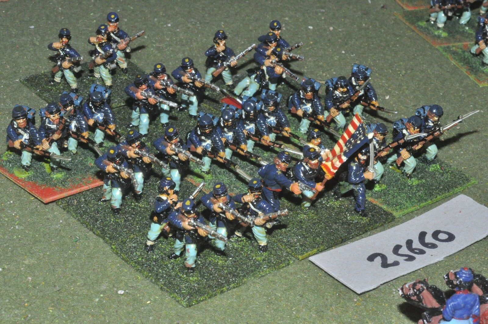25mm ACW   union - regt 35 figures - - - inf (25660) 1b4577