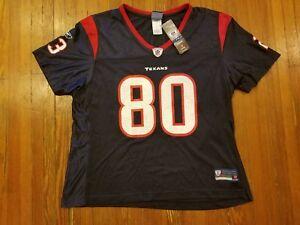 Houston Texans Andre Johnson Reebok OnField Blue NFL Jersey Women s ... b69f64040