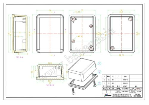 10 pcs Kunststoffgehäuse LeergehäuseKlein ABS Box Plastic Enclosure 51x36x20mm