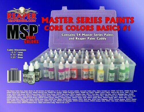 Miniatyriserar MSP Master Series Färger Kärnfärgarnas Basics