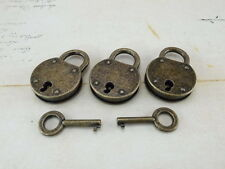 Vintage Antique Style Mini Padlocks With Keys Reproduction (Lot of 3)