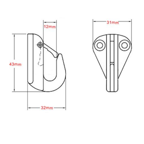Fenderhaken Edelstahl für Boote 2-teiliges Pack