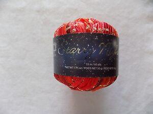 Chinese-Lantern-Starry-Night-Premier-Yarns-Lot-6268-1-75-oz-60-yds-Reds-amp-Gold