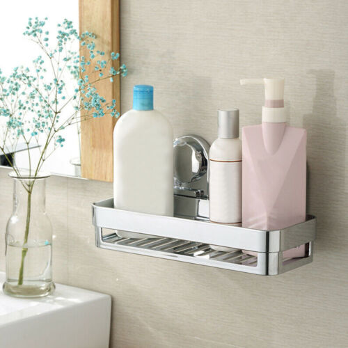 Home Rustproof Bath Suction Caddy Bathroom Tidy Storage Basket Shelf Holder #HA2