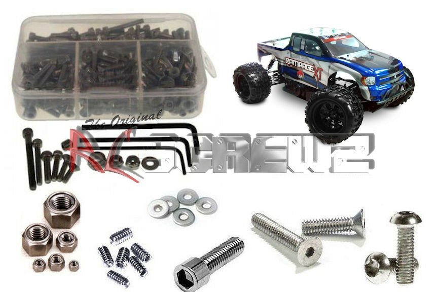 RC Screwz RCR014 rossocat Racing Rampage  XT completare Stainless Hardware Kit  per offrirti un piacevole shopping online