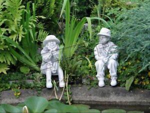 Junge-Sitzende-Figur-Statue-Figuren-Skulptur-Statuen-Garten-Dekoration-S101083