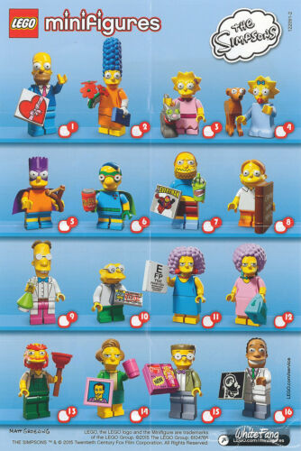 Lego minifigures simpsons series 2 unopened sealed random mystery blind bags