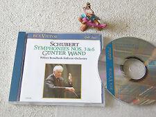 SCHUBERT Symphonien Nr. 3 & 6 GÜNTER WAND KRSO 1989 GER CD RCA VICTOR GD 60098